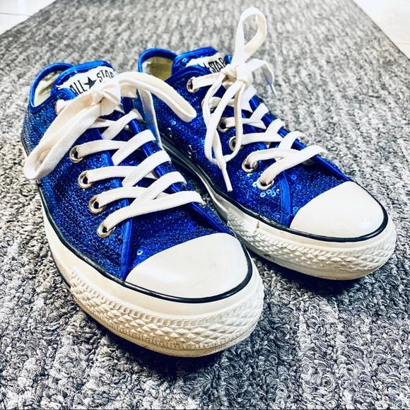 Royal Blue Sequin Sparkle Converse